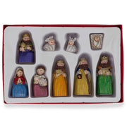 Set of 9 Hand Painted Nativity Scene Set Figurines