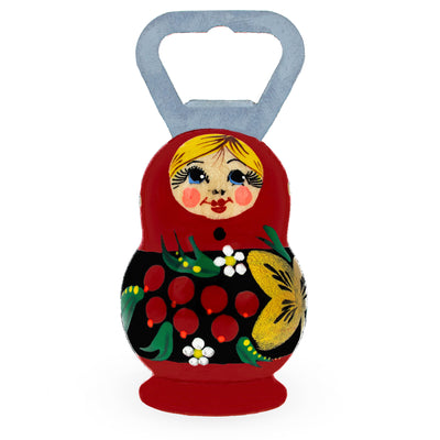 Russian Matryoshka Doll Wooden Bottle Opener by BestPysanky