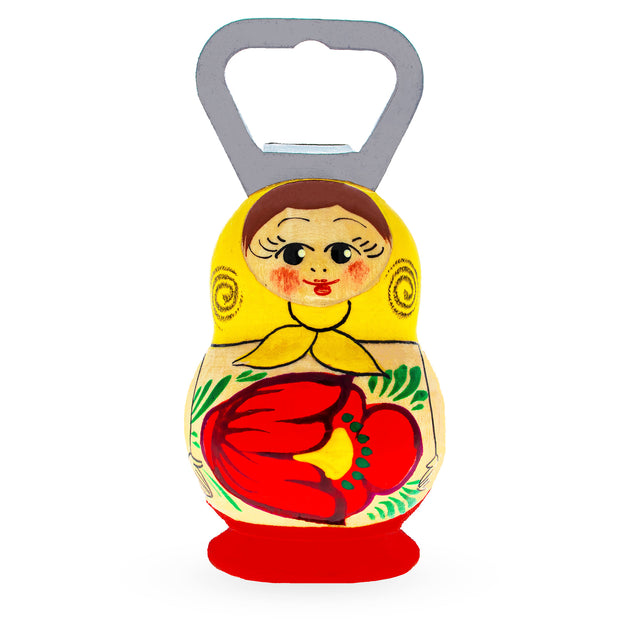 Russian Semenov Matryoshka Doll Wooden Bottle Opener by BestPysanky