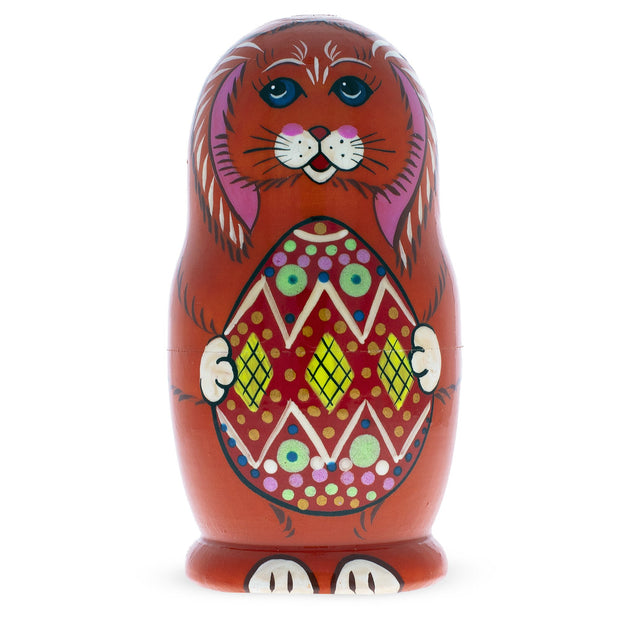 Buy Online Gift Shop Set of 3 Bunnies with Easter Eggs Matryoshka Russian Nesting Dolls