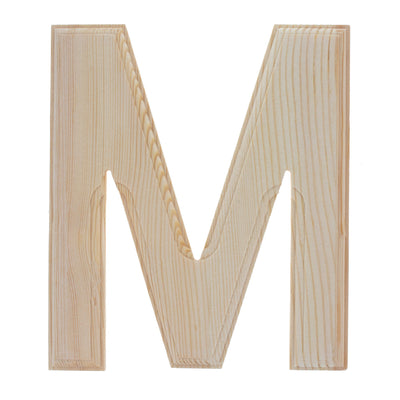 Unfinished Wooden Arial Font Letter M (6.25 Inches) by BestPysanky