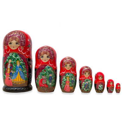 "Set of 7 ""The Nutcracker"" Wooden Matryoshka Russian Nesting Dolls 8.5 Inches by BestPysanky"
