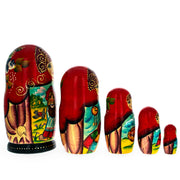 Buy Online Gift Shop Set of 5 Little Red Riding Hood Wooden Matryoshka Russian Nesting Dolls 7 Inches
