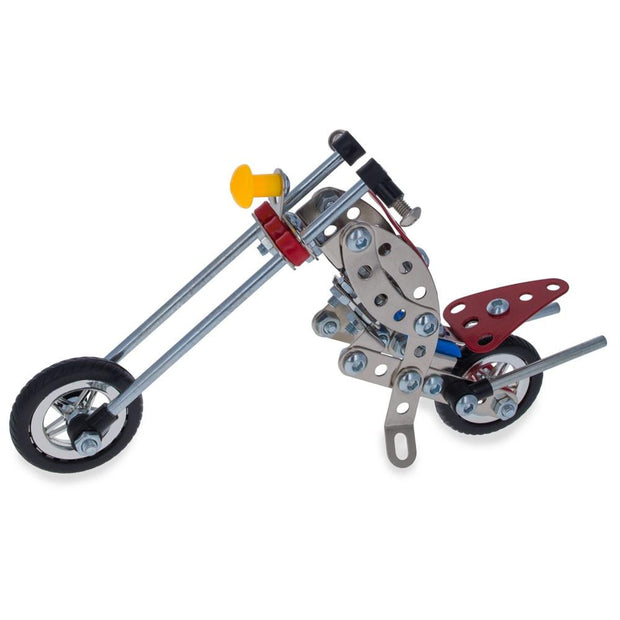 Long Metal Motorcycle Chopper Bike Model Kit (105 Pieces) 7.5 Inches by BestPysanky