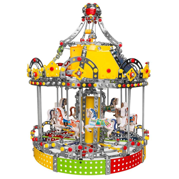 Animated Motorized Carousel Construction Model Kit (1423 Pieces) by BestPysanky