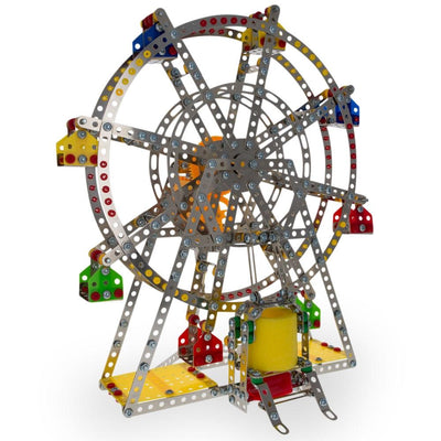 Rotating Motorized with LED Lights Metal Ferris Wheel Model Kit (954 Pieces) 14 Inches by BestPysanky