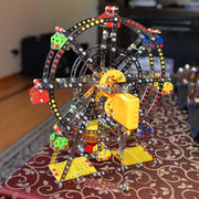 Buy Online Gift Shop Rotating Motorized with LED Lights Metal Ferris Wheel Model Kit (954 Pieces) 14 Inches