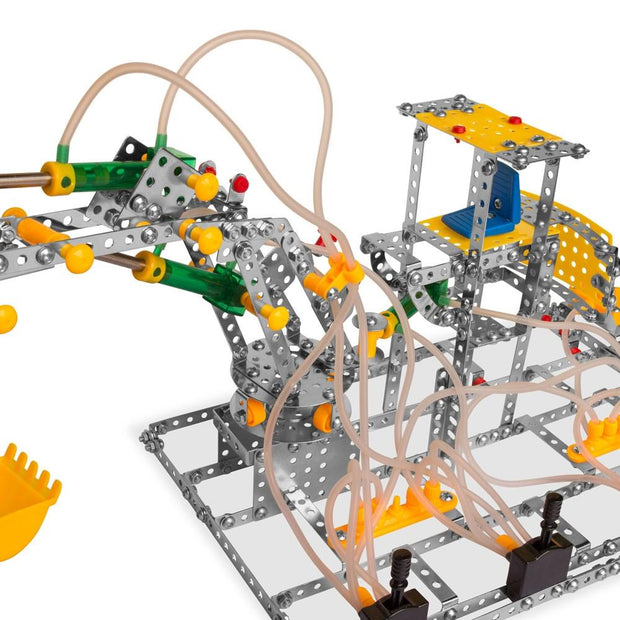 Buy Online Gift Shop Functioning Claw with Air Pressure Construction Model Kit (807 Pieces)