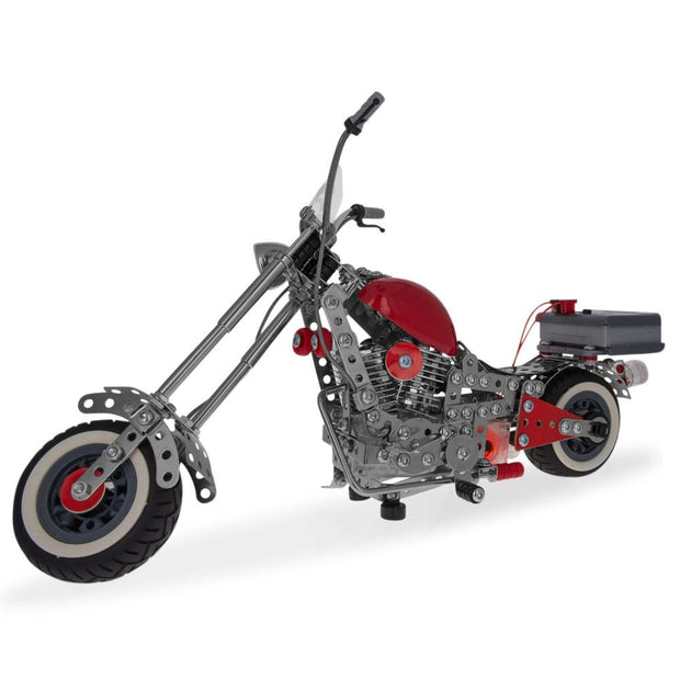 Motorcycle Bike Chopper Construction Model Kit (940 Pieces) by BestPysanky