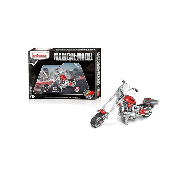 Motorcycle Bike Chopper Construction Model Kit (940 Pieces)