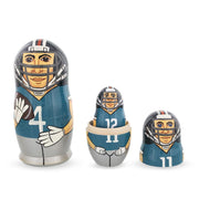 Football Wooden Nesting Dolls