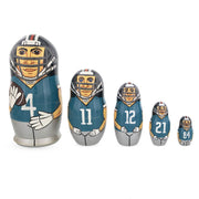 Football Wooden Nesting Dolls by BestPysanky