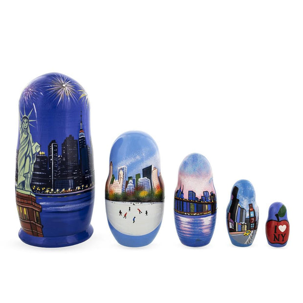 New York City Wooden Nesting Dolls by BestPysanky
