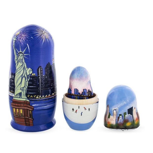 New York City Wooden Nesting Dolls