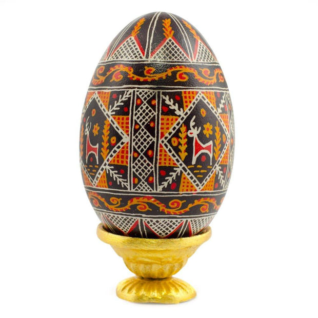 Rough Surface Golden Dish Metal Egg Stand by BestPysanky