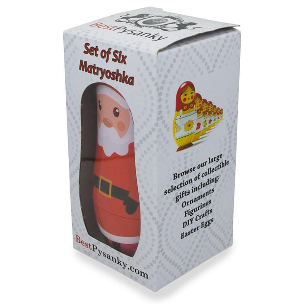 Buy Online Gift Shop 6 Plastic Nesting Dolls - Santa, Snowman, Reindeer, Tree, Elf & Gingerbread