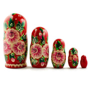 6.5'' Set of 5 Dancing Couple Russian Nesting Dolls | BestPysanky