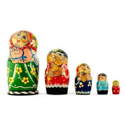 Set of 5 Farmers Family Russian Nesting Dolls 7 Inches by BestPysanky