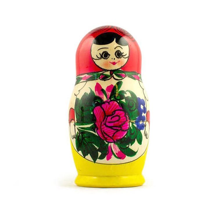 Buy Online Gift Shop Set of 5 Semyonov Traditional Matryoshka Russian Nesting Dolls 4.5 Inches