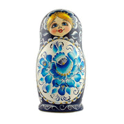 Buy Online Gift Shop Set of 5 Gzhel Style Russian Nesting Dolls Matryoshka 7 Inches