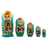 Set of 5 Alla Russian Nesting Dolls Matryoshka 7 Inches by BestPysanky