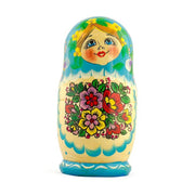 Buy Online Gift Shop Set of 5 Garden Bouquet Dress Russian Nesting Dolls 5.5 Inches