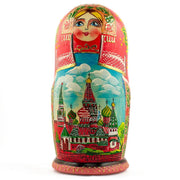 Set of 5 Moscow Kremlin Nesting Dolls Matryoshka 7 Inches