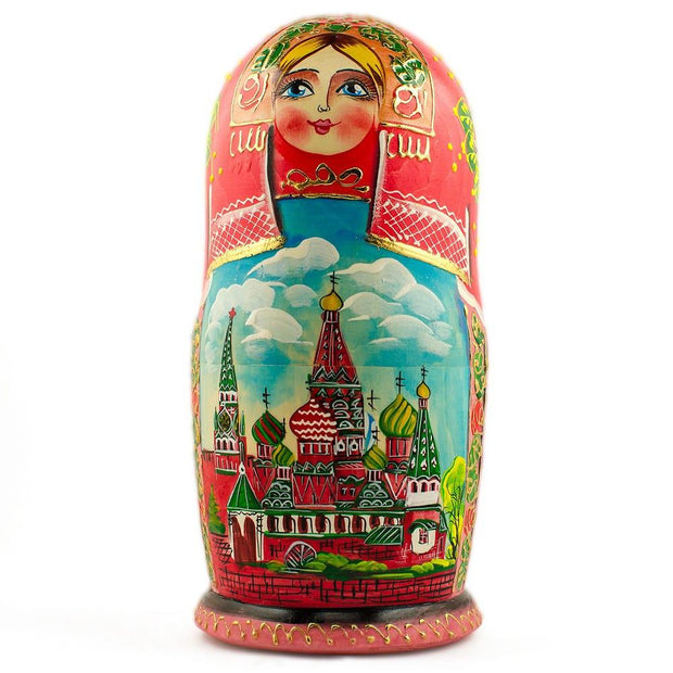 Buy Online Gift Shop Set of 5 Moscow Kremlin Nesting Dolls Matryoshka 7 Inches