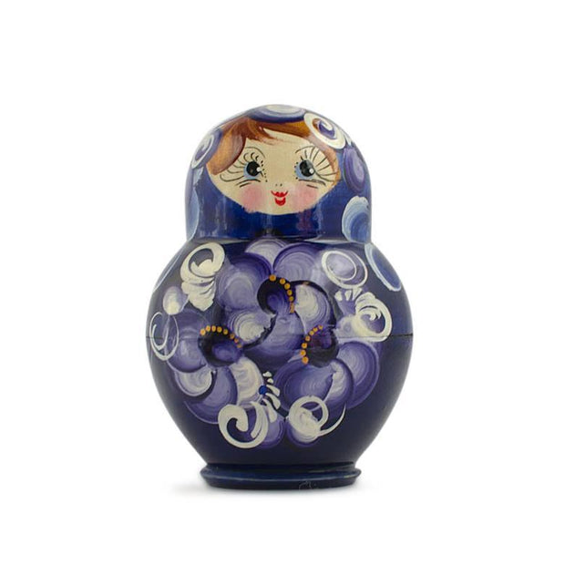 Buy Online Gift Shop Set of 4 Blue Dress Mini Wooden Russian Nesting Dolls Matryoshka 3 Inches