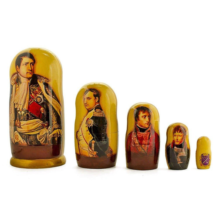 Set of 5 Napoleon Russian Nesting Dolls 6 Inches by BestPysanky
