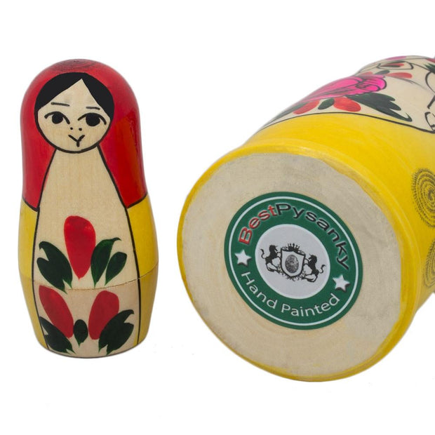 Buy Online Gift Shop Set of 6 Traditional Semenov Matryoshka Wooden Russian Nesting Dolls 5.5 Inches