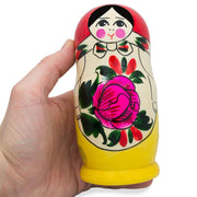 Set of 6 Traditional Semenov Matryoshka Wooden Russian Nesting Dolls 5.5 Inches