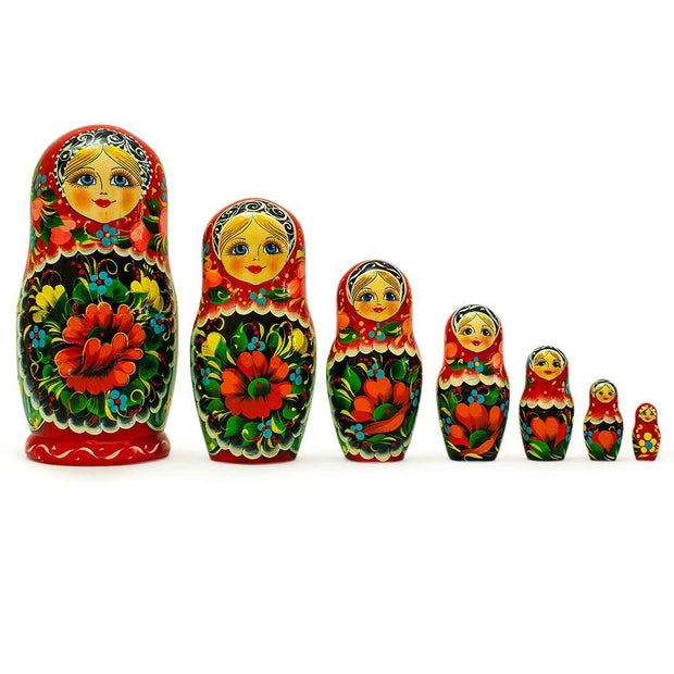 7 pcs Alisa Russian Nesting Dolls 8.5 Inches by BestPysanky