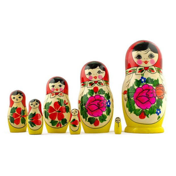 Semenov 7 Wooden Dolls Russian Nesting Dolls Matryoshka  7 Inches