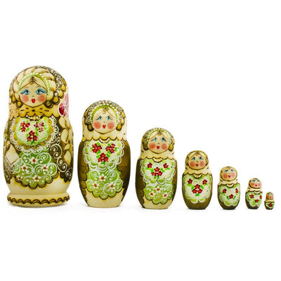 7 pcs Large Zhenka Russian Nesting Dolls 8 Inches by BestPysanky