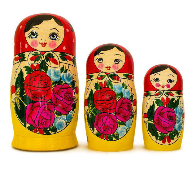 Buy Online Gift Shop Set of 10 Traditional Semenov Russian Nesting Dolls Matryoshka 10 Inches