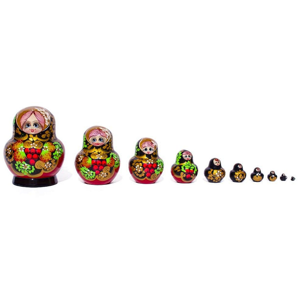 Set of 10 Valeria Russian Nesting Dolls 5.5 Inches by BestPysanky