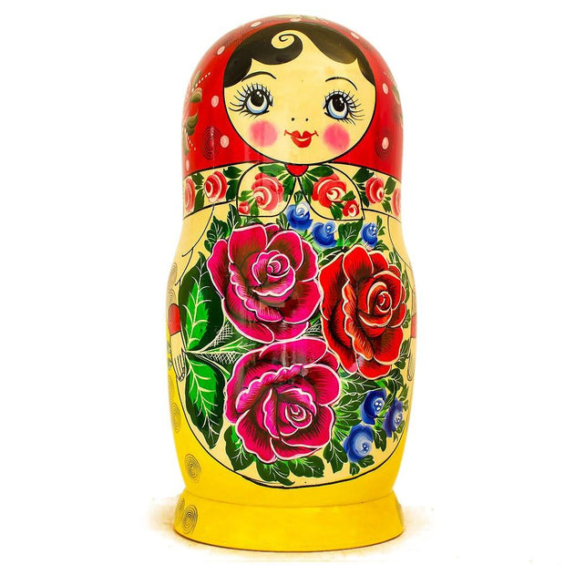 15 Semyonov XL Traditional Wooden Russian Nesting Dolls Matryoshka 12 Inches