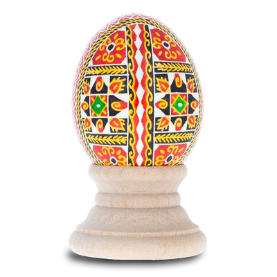 Geometrical Design Chicken Size Blown Real Ukrainian Easter Egg Pysanky by BestPysanky