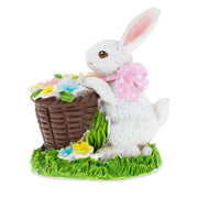 Buy Online Gift Shop Bunny with Easter Basket full of Flowers 3 Inches