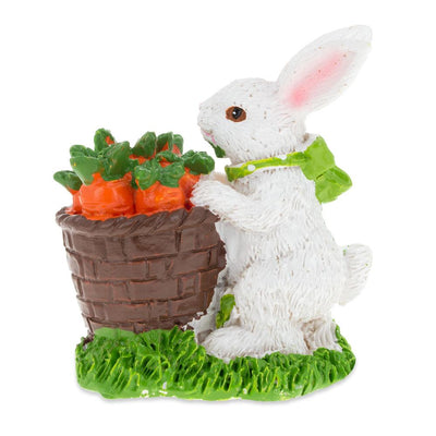 Bunny with Easter Basket Full of Carrots 3 Inches by BestPysanky