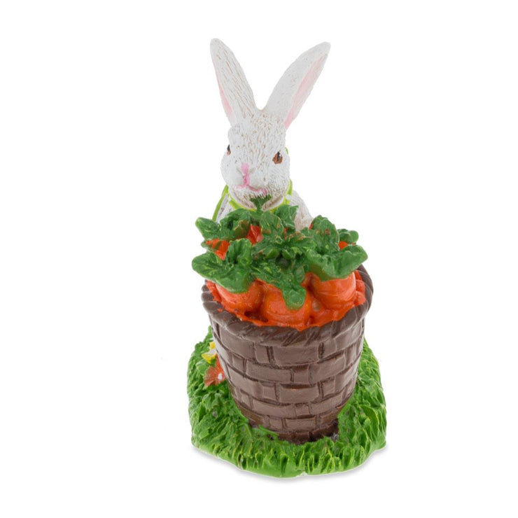 Buy Online Gift Shop Bunny with Easter Basket Full of Carrots 3 Inches