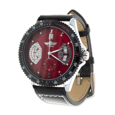 Winner Red Dial Men's Tachymeter by BestPysanky