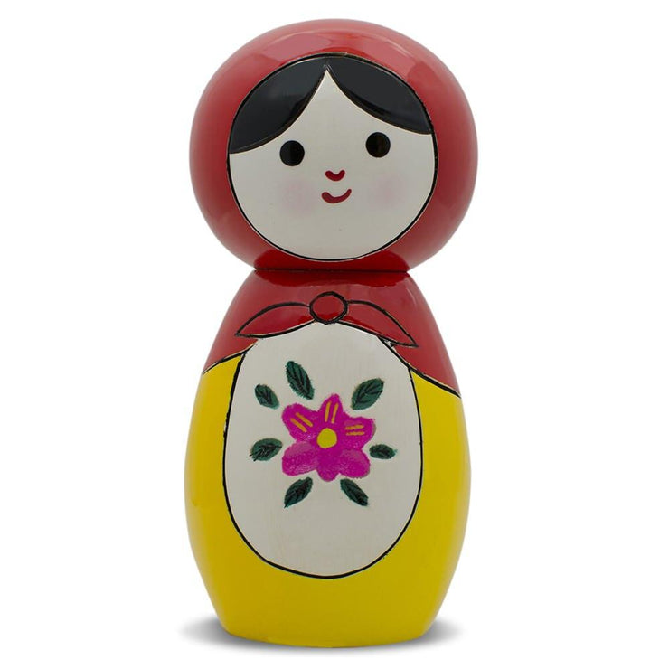 Japanese Kokeshi Wooden Doll 4.25 Inches by BestPysanky