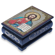 Jesus Icon Wooden Rosary Box by BestPysanky