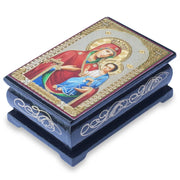 Virgin Mary Icon Wooden Rosary Box by BestPysanky