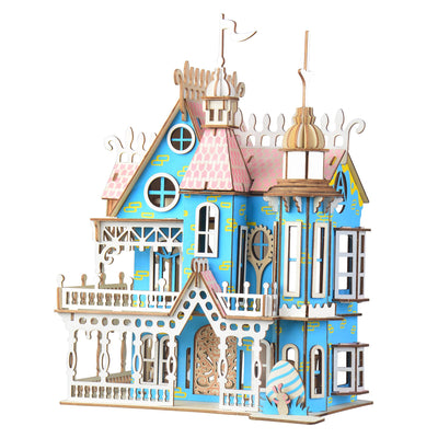 Decorated House Model Kit - Wooden Laser-Cut 3D Puzzle 174 Pieces by BestPysanky