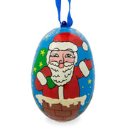 Santa with Bag of Gifts Wooden Christmas Ornament 3 Inches by BestPysanky