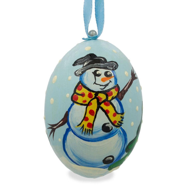 Snowman with Scarf Wooden Christmas Ornament 3 Inches by BestPysanky