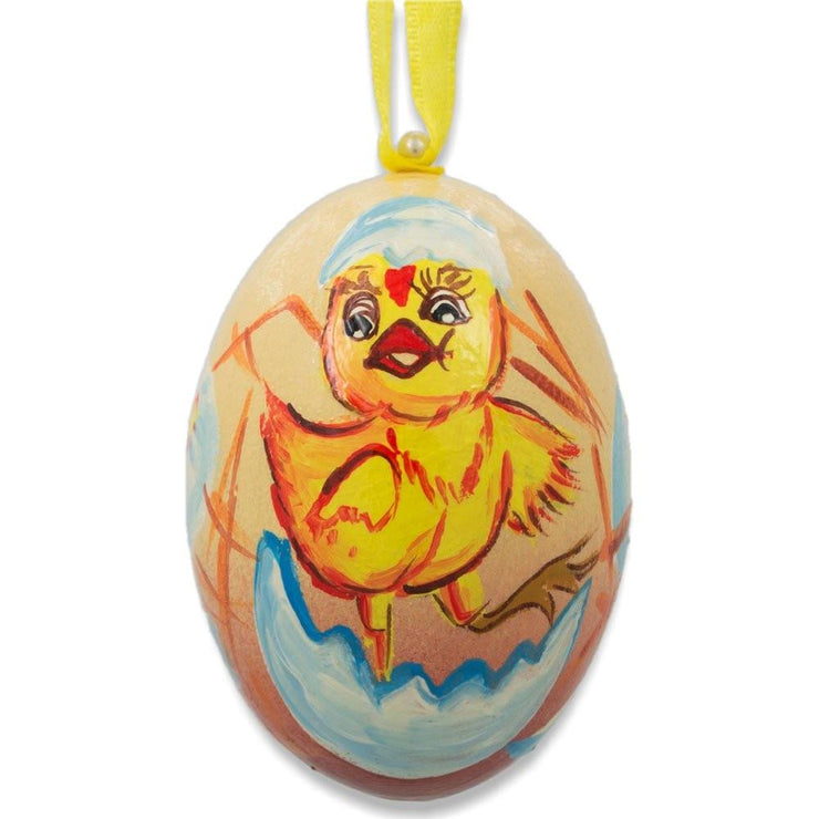Newborn Chick Hatchling Animal Wooden Christmas Ornament 3 Inches by BestPysanky